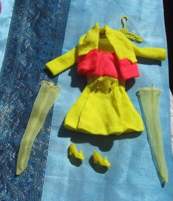Vintage COMPLETE 1970 Barbie RARE PAIR Outfit #1462, Very Good