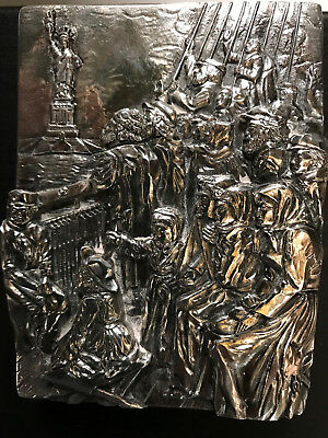 Henryk Winograd Immigrants Coming to USA / Statue of Liberty Plaque/Paperweight