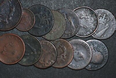 Ireland copper coins 1700 - 1800
