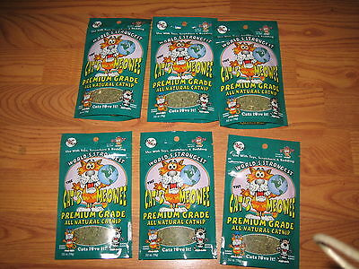 World's Strongest The Cat's Meowee All Natural Catnip Premium Grade .352  6-Pack