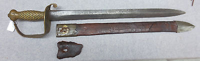 Confederate Naval Cutlass, Thomas Griswold, New Orleans sword & scabbard, nice!