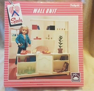 Vintage 1980S Sindy Doll Wall Unit Living Room Shelves  Boxed!!