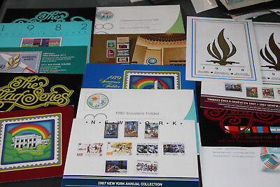 UNITED NATIONS - COLLECTION OF 15 SOUVENIR/YEAR PACK FOLDERS 1970's-90's