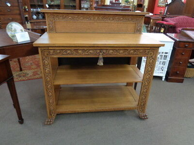 Carved Oak Server c.1880  Inv.#2927B