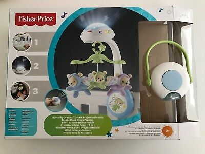 Fisher-Price Butterfly Dreams 3 in 1 Projection Mobile. Excellent condition.