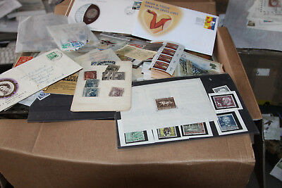 12Kg Box Of Stamps - Albums, Leaves, Covers, Stockcards, Ex Auction Lots Etc