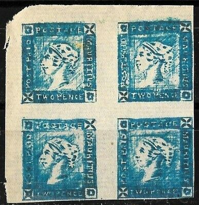 505 - Mauritius - 1854 Issue - Block Of Four - Forgeries - Faux - Fakes