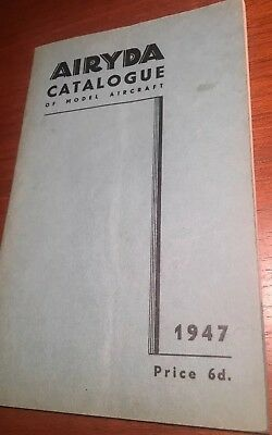 Vintage Airyda catalogue of Model Aircraft 1947 in good condition