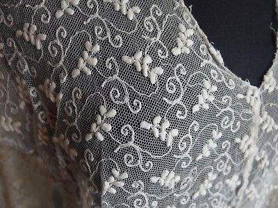 antique Edwardian embroidered lace blouse bodice top