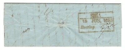 India 1852 letter with early Simla postmark