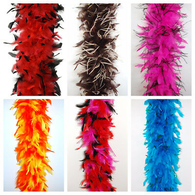 """CHANDELLE FEATHER BOAS 80 Gram 72"""" Top Quality MANY COLORS & TYPES (Halloween)"""