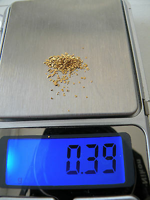 0,39G Paillettes Or Riviere Gard France / Flake Gold River Gard France
