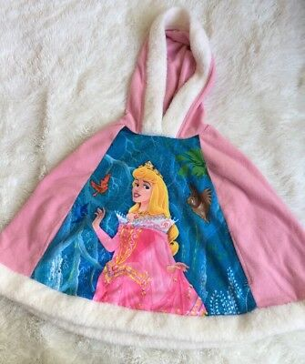 Disney Store Pink Princess Aurora Cover Up With Hood Size XXS-XS