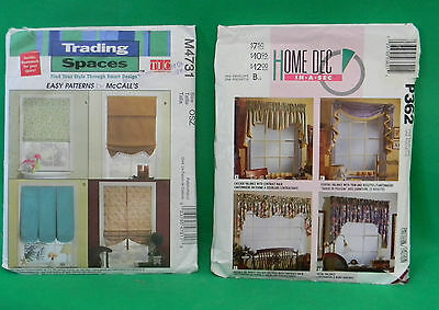 NEW Trading Spaces McCalls Pattern # M4731 Window Dressing Valance & Home Dec