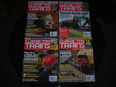 Vintage Classic Toy Trains Magazines 3/10,7/10,7/11,9/12 Lot Of 4