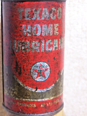 Vintage Texaco Home Lubricant Mini Oiler Oil Can