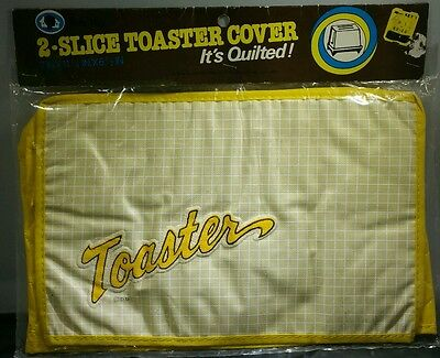 Dora May Toaster Cover Quilted Yellow Vintage 1960s New in Sealed Package