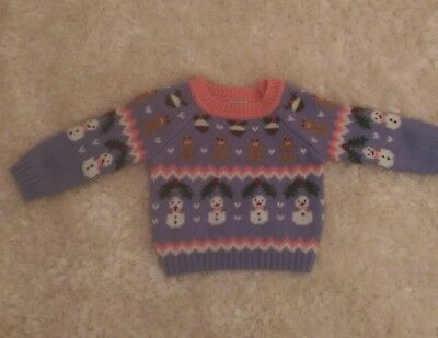 Gorgeous Girls Christmas Jumper Age 12-18 Months From Next