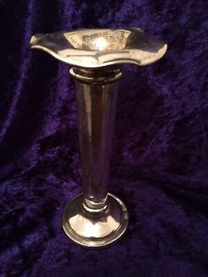 Antique 1878 Elkington silver plate bud vase