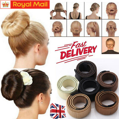 Women's Hair Styling Donut Former Foam French Twist Magic DIY Tool Bun Maker