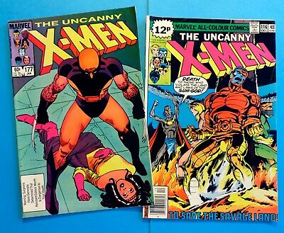 Marvel - Uncanny X-Men #116 and #177 - Wolverine - VGC to Excellent Condition