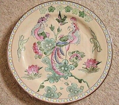 Antique Chinese Peacock  porcelain plate-dish-charger