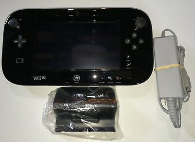 EXCELLENT CONDITION! Nintendo Wii U GamePad Controller Black, WITH CHARGER!