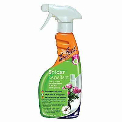 The Buzz Spider Repellent Spray (Humane, Natural Mint Treatment, Deters Spiders