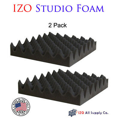 "2 Pack - Acoustic Egg Panels Studio Soundproofing Foam Wedge tiles 2.5""x12""x12"""