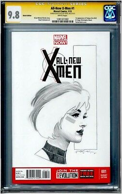 All-New X-Men #1 Blank CGC 9.8 SS signed & sketched original art by Jeff Dekal