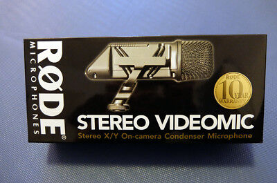Rode stereo videomic pro + wind shield + accessories