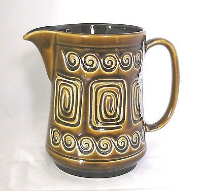 "Vintage SYLVAC Pottery # 4040 - Brown ""TOTEM"" 1 Pint JUG - Very Good Condition"