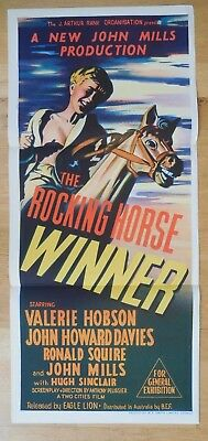 John MILLS HOWARD DAVIES ROCKING HORSE WINNER 1949 Original Australian Daybill