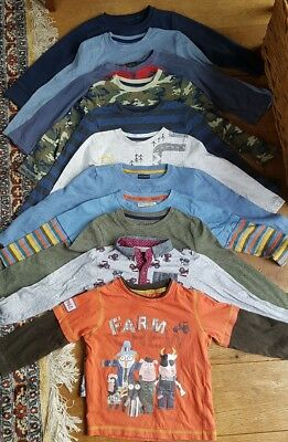 boy 2-3 years bundle of long sleeve tops jumpers winter clothing