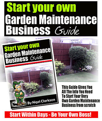 Start Your Own Gardening Business this week - Start A New Business