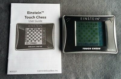 Excalibur Einstein Electronic Touch Chess. Pocket Travel Game With Stylus.