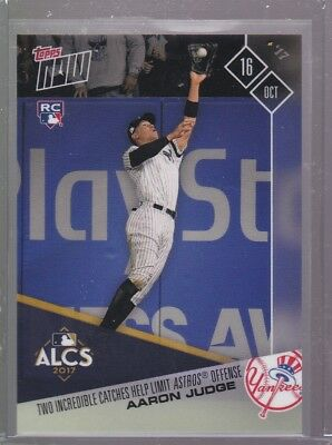 2017 Topps NOW MLB 771 Aaron Judge Two Incredible Catches Help Limit Astros