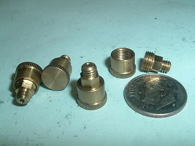 (4) Mini Model Hit & Miss Gas Engine or steam engine Brass Grease Cups 8-36 thd