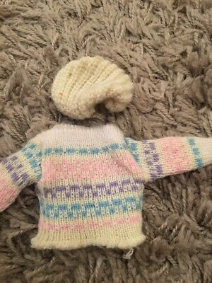 Sindy French Connection 1984 Sweater And Hat