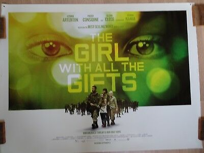 """Cinema Quad Poster 30"""" x 40"""" THE GIRL WITH ALL THE GIFTS Zombie G Arterton Close"""