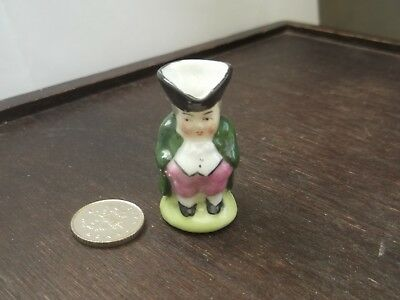Miniature Toby Jug Wearing A Green Coat  No Maker  Foreign