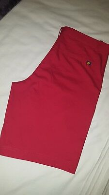 Mens Nike Tour Performance Golf Shorts 36W Red BNWT