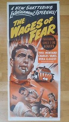 Rare H. G. CLOUZOT Yves MONTAND WAGES OF FEAR 1953 Original Australian Daybill