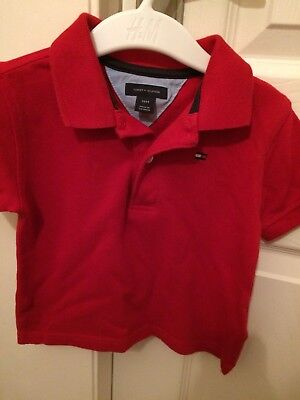 Boys Designer Tommy Hilfiger Red Polo Shirt Age 18months
