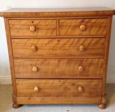Beautiful Victorian Antique Chest Of Drawers