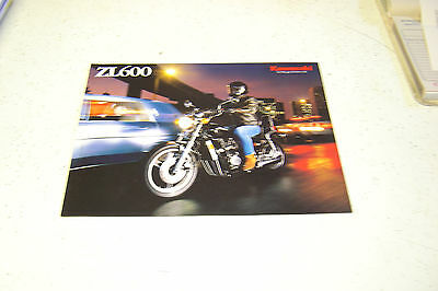 1 Kawasaki ,1986 NOS.ZL600,Poster Type Sales Brochure.4 Pages.with Poster