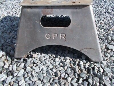 CPR railway conductors step stool