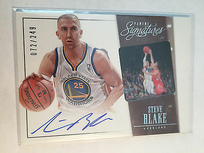 Steve Blake 2013-14 Panini Signatures Auto #31 Golden State Warriors 072/249