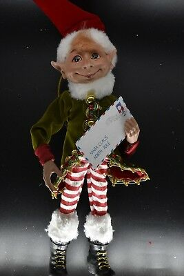 Christmas Elf - 40cm Tall. Red/ Green