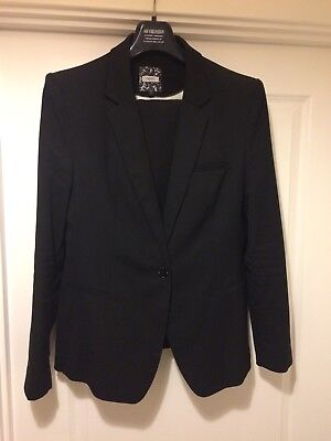 Women's Next Trouser Suit Size 16R Black